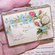 FRENCH VICTORIAN Gift Box from Lausanne - Doves with Embossed Florals!