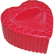 Vintage VALENTINES DAY Red Plastic Heart Box!