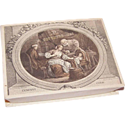 DTD 1952 FRENCH Baptism Candy Box/Gift Box with Engraved Top!