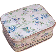 ANTIQUE EDWARDIAN Jewelry Box with Floral (Violets) Paper!