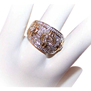 ESTATE 14K Gold & 1CT TW Diamond Cocktail Ring/Wedding Ring!