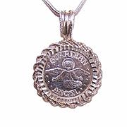 Vintage 999 Silver GUARDIAN ANGEL Pendent!