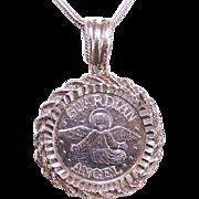 Vintage 999 Silver GUARDIAN ANGEL Pendant!