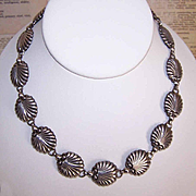 "Vintage DANECRAFT Sterling Silver ""Shell"" Link Necklace!"