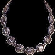 "Vintage DANECRAFT Sterling Silver ""Shell"" Link Necklace!"