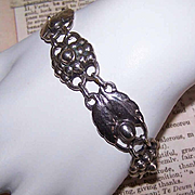 Recast C.1945 GEORG JENSEN #3 Sterling Silver Link Bracelet!
