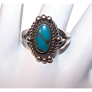 Bell Trading Post STERLING SILVER & Turquoise Native American Ring!