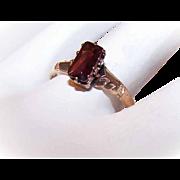 Sweet ANTIQUE Victorian 14K Gold & Garnet Promise Ring!