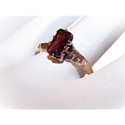 Sweet ANTIQUE Victorian 14K Gold & Garnet Promise Ring!