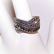 Vintage STERLING SILVER & Marcasite Fashion Ring!