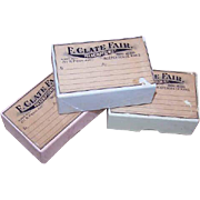 Pair C.1900 PRESCRIPTION BOXES from Independence, Kansas - Pale Blue!