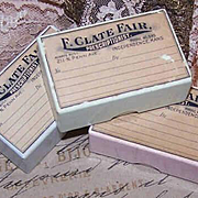 Pair C.1900 PRESCRIPTION BOXES from Independence, Kansas - Mint Green!