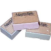 Pair C.1900 PRESCRIPTION BOXES from Independence, Kansas - Pale Pink!