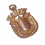 Dtd 1901 ENGLISH 9K Gold Award Watch Fob/Award Medal - To Miss Middleton!