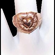 Vintage 14K Gold Ring - Lovely Heart Design!