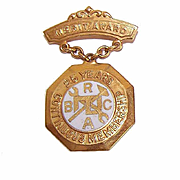 Vintage 10K Gold & Enamel Brotherhood of Railway Carmen Pin/Merit Award - 25 Years Continuous Service!