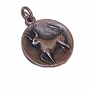 Vintage STERLING SILVER Charm by James Avery - Zodiac Symbol, Taurus the Bull!