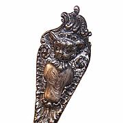 C.1895 STERLING SILVER Souvenir Spoon - Cherub by Watson Company!