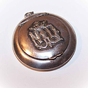 Vintage FRENCH SILVER Rosary Container - Notre Dame Initial Top!