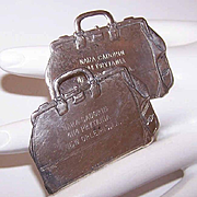 Antique STERLING SILVER Luggage Tags - Engraved with a New Orleans Address!