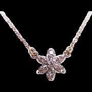 "Vintage 14K Gold & .25CT TW Diamond ""STAR"" Necklace!"