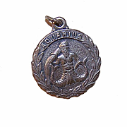Vintage STERLING SILVER Zodiac Charm - Aquarius, the Water Bearer!