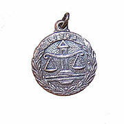 Vintage STERLING SILVER Zodiac Charm - Libra, the Scales!