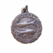 Vintage STERLING SILVER Zodiac Charm -  Pisces, the Fish!