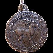 Vintage STERLING SILVER Zodiac Charm - Capricorn, the Goat!