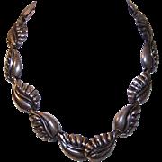 """Vintage NAPIER Sterling Silver """"Stylized Leaf"""" Link Necklace!"""