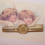 Vintage FRENCH Gold Filled Religious Pin for Birth/Christening or First Communion!