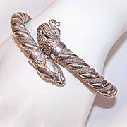 Vintage ITALIAN Sterling Silver Snake Bracelet Bangle Bracelet!