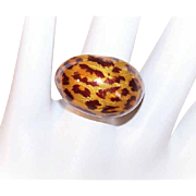 Vintage Italian STERLING SILVER & Enamel Fashion Ring!