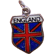 Vintage REU 800 Silver Travel Shield Charm - England!