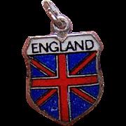 Vintage REU 800 Silver Travel Shield Charm - England!