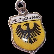 Vintage REU 800 Silver Travel Shield Charm - Germany/Deutschland!
