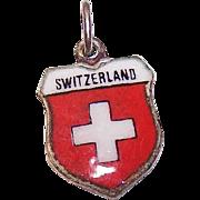 Vintage REU 800 Silver Travel Shield Charm - Switzerland!