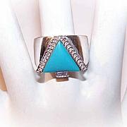 Vintage 14K Gold & Diamond Ring by John C. Rinker, Master Jeweler!