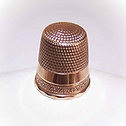 Sweet & Simple EDWARDIAN Era 10K Gold Thimble - Size 10!