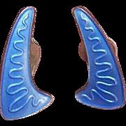 Volmer Bahner, Denmark STERLING SILVER & Enamel Earrings!