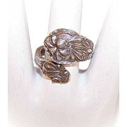 Vintage GORHAM Sterling Silver Bypass Ring/Spoon Ring - Daffodils!