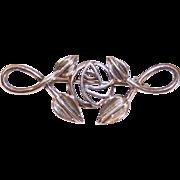 Vintage English STERLING SILVER Pin - C. Rennie Mackintosh Stylized Rose!