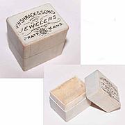 HTF Edwardian Era Ring Box - W.H. Shrack & Sons, Jewelers, Prate, Kans!