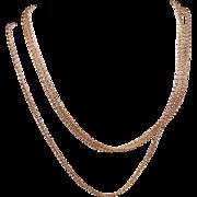"Vintage ITALIAN 18K Gold 30"" Popcorn Chain Necklace by Milor!"