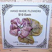 Vintage FRENCH Lavender Silk Rayon Floral Embellishment/Applique!