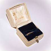 English ANTIQUE EDWARDIAN Celluloid & Blue Velvet Ring Box!