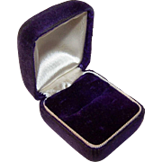 VICTORIAN Ring Box of Purple Velvet & Cream Silk!