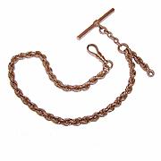 ANTIQUE EDWARDIAN 10K Gold Albert Pocket Watch Chain by Carter Gough!
