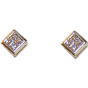 Vintage ESTATE 14K Gold & .50CT TW Diamond Earrings!