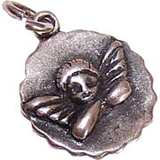 Tiny STERLING SILVER Charm - Guardian Angel!